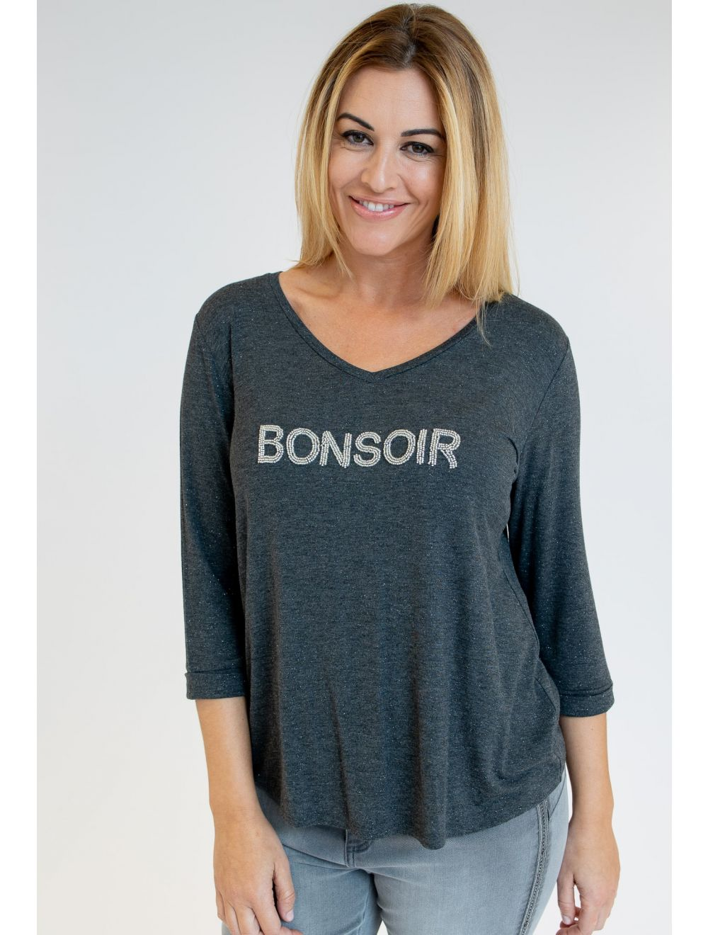 CAMISETA BEADS BONSOIR